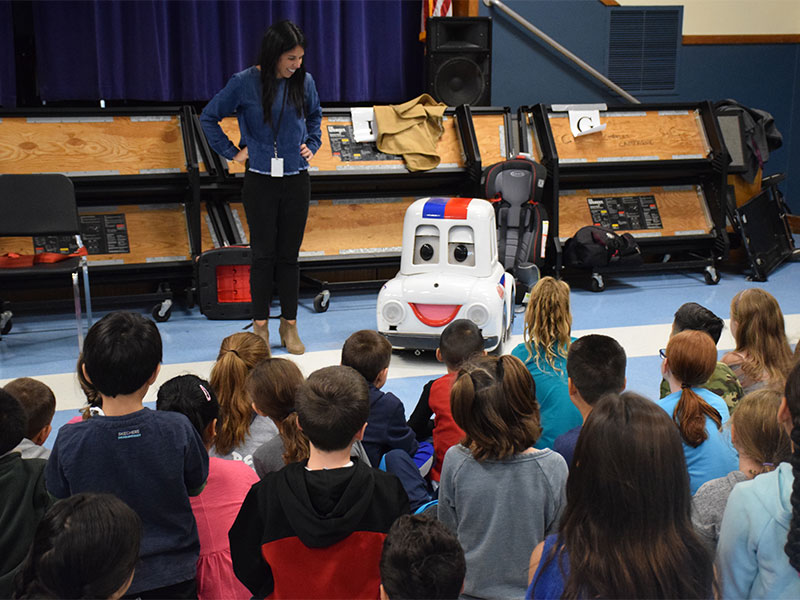 Charles Campagne Students Learn About Traffic Safety from Otto the...