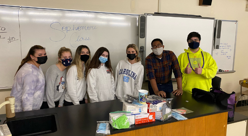 BHS Sophomores Collect Money and Masks for LI Youth in Need