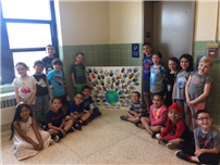 Kramer Lane students give a hand for Earth Day photo