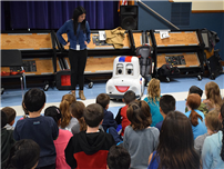 Charles Campagne Students Learn About Traffic Safety from Otto the Auto photo